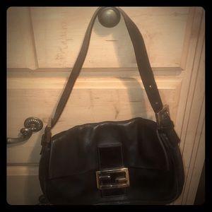 Fendi Bags - Fendi Black leather shoulder bag!!